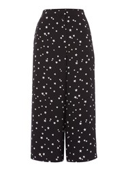 Therapy Star Print Culotte Trousers Black