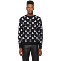 Moschino Black All Over Teddy Crewneck Sweater