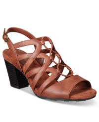 Easy Street Shoes Admire Sandals Women's Brown
