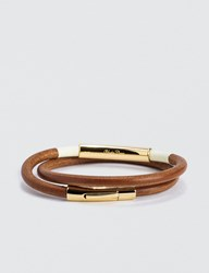 Undercover Round Leather Cord Double Winding Bracelet