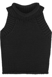 Matthew Williamson Cropped Cotton Blend Knitted Top