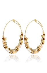 Gas Bijoux Women's Comedia Beaded Hoop Earrings