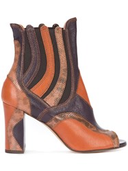 Derek Lam Open Toe Ankle Boots Women Leather Karung Goat Suede 37