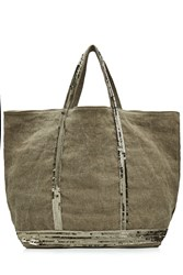 Vanessa Bruno Canvas Tote With Sequin Embellishment