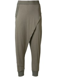 Lost And Found Ria Dunn Layered Cropped Trousers Grey