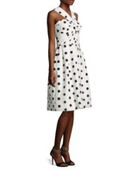 Monique Lhuillier Silk Dot Halter Dress