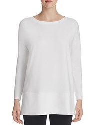 Eileen Fisher Boat Neck Drop Shoulder Tunic 100 Bloomingdale's Exclusive White