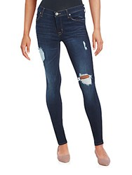 Hudson Distressed Skinny Jeans Dhyana Destroyed