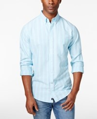 Club Room Men's Romsey Striped Long Sleeve Shirt Only At Macy's Sweetwater