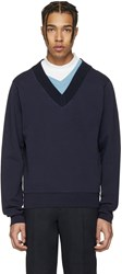 Maison Martin Margiela Navy Layered Collar Pullover