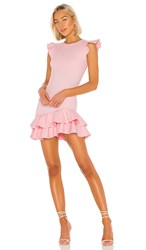 Susana Monaco Sleeveless Ruffle Hem Dress In Pink. Tutu