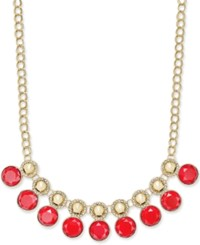 Charter Club Gold Tone Pave And Colored Stone Necklace Only At Macy's