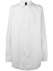 Poeme Bohemien Loose Fit Long Shirt White