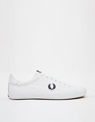 Fred Perry Howells White Plimsoll Trainers