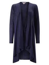 Phase Eight Lea Linen Cardigan Navy