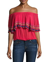 Piper Byron Off The Shoulder Top White