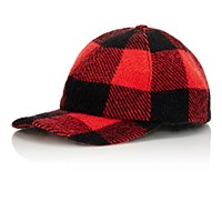 Crown Cap Men's Plaid Fitted Baseball Hat Red