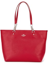 Coach Chain Handle Tote Red