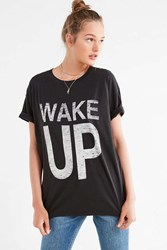 Truly Madly Deeply Wake Up Tee Washed Black