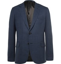 Paul Smith Blue Slim Fit Woven Wool Blazer Blue