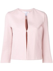 Harris Wharf London Collarless Jacket Pink