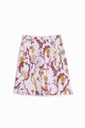 Giambattista Valli A Line Flower Mini Skirt Purple