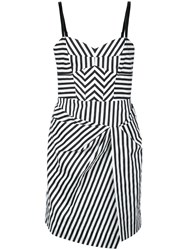 Milly Short Striped Dress White