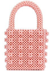 Shrimps Beaded Box Bag Pink And Purple