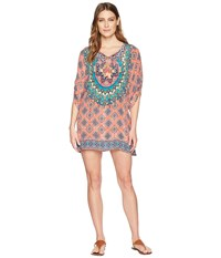 Tolani Colby Tunic Dress Coral