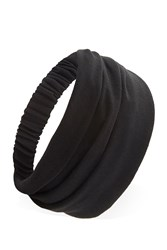 Forever 21 Gathered Knit Headwrap Black