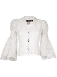 John Galliano Vintage English Embroidery Blouse White