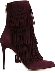 Paul Andrew Fringed Stiletto Boots White