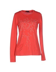 Emporio Armani Topwear T Shirts Women Red