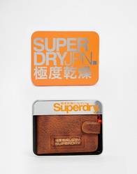 Superdry Wallet With Gift Tin Tan