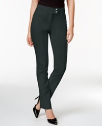 Styleandco. Style Co. Tummy Control Slim Leg Pants Only At Macy's Carbon Grey