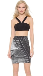 Aq Aq Flex Crop Top Black