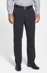 Men's Big And Tall Cutter And Buck 'Curtis' Flat Front Five Pocket Cotton Twill Pants Black