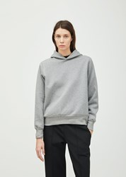 The Row Wren Cotton Hoodie Medium Grey Melange