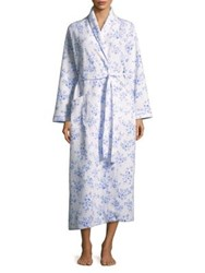 Carole Hochman Floral Quilted Robe White