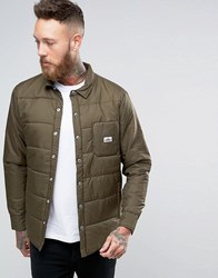 Penfield Albright Quilted Shirt Jacket Olive Green
