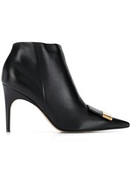 Sergio Rossi Pointed Ankle Boots Black