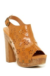 Groove Monica Platform Sandal Brown