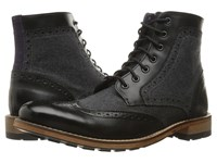Ted Baker Sealls 3 Black Dark Grey Wool Men's Lace Up Boots