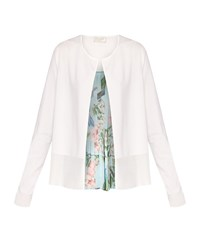 Ted Baker Ferliss Nectar Pleated Back Cardigan Natural