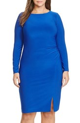 Lauren Ralph Lauren Plus Size Women's Side Ruched Jersey Sheath Dress