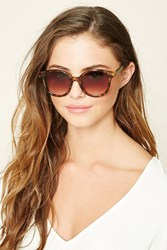 Forever 21 Gradient Round Sunglasses Brown Brown