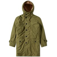 Saint Laurent Lined Military Parka Green