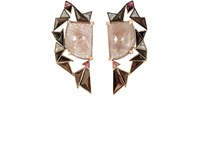 Nak Armstrong Women's Mixed Gemstone Drop Earrings Pink