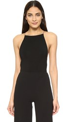 Alexander Wang Criss Cross Back Bodysuit Black