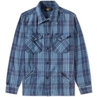 Rrl Black Bear Overshirt Blue